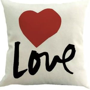 Pillow Cover- NEW- LOVE Heart